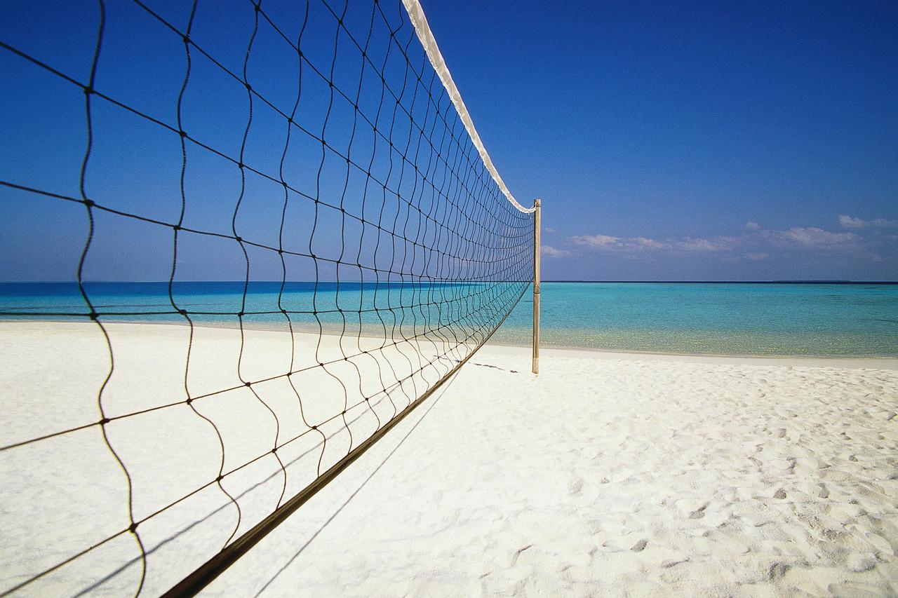 Volleyball Net at Beach